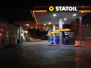 LED osvětlení benzínové stanice